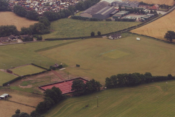 Aerial shot of old facilities