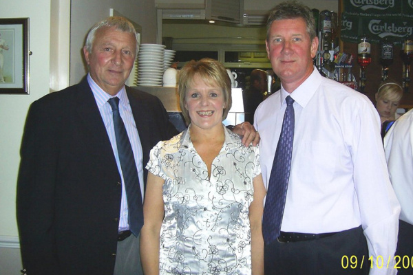 Gary & Jan with ex-England footballer Mike Summerbee
