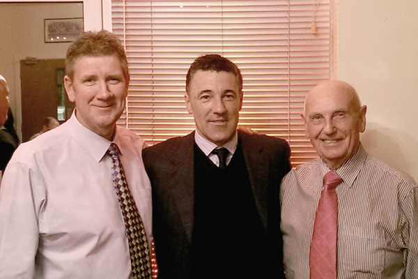 Gary & Ray with Dean Saunders ex-Welsh international footballer